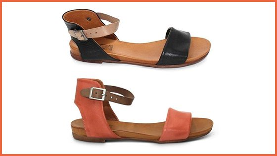 This simple, sweet Alanis Flat is available in two gorgeous colours:Black and Coral.