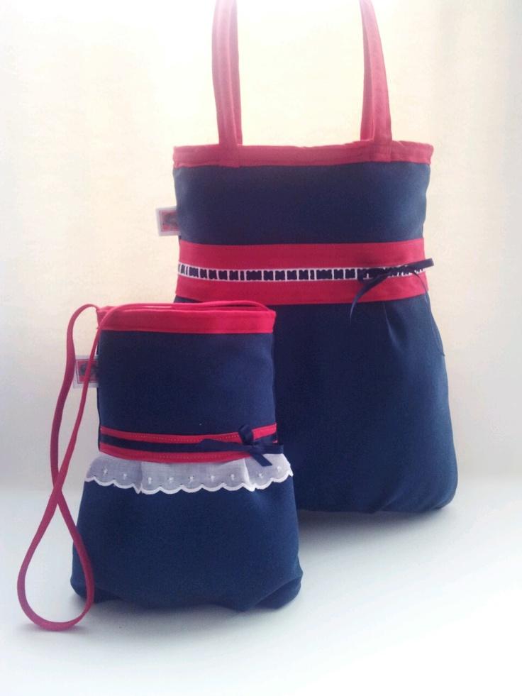 Bolso de mujer y bolso de niña tresCandela