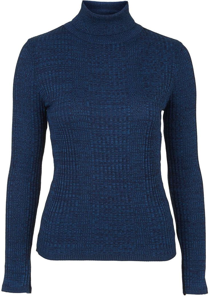 Womens air force blue ribbed roll-neck jumper from Topshop - £25 at ClothingByColour.com