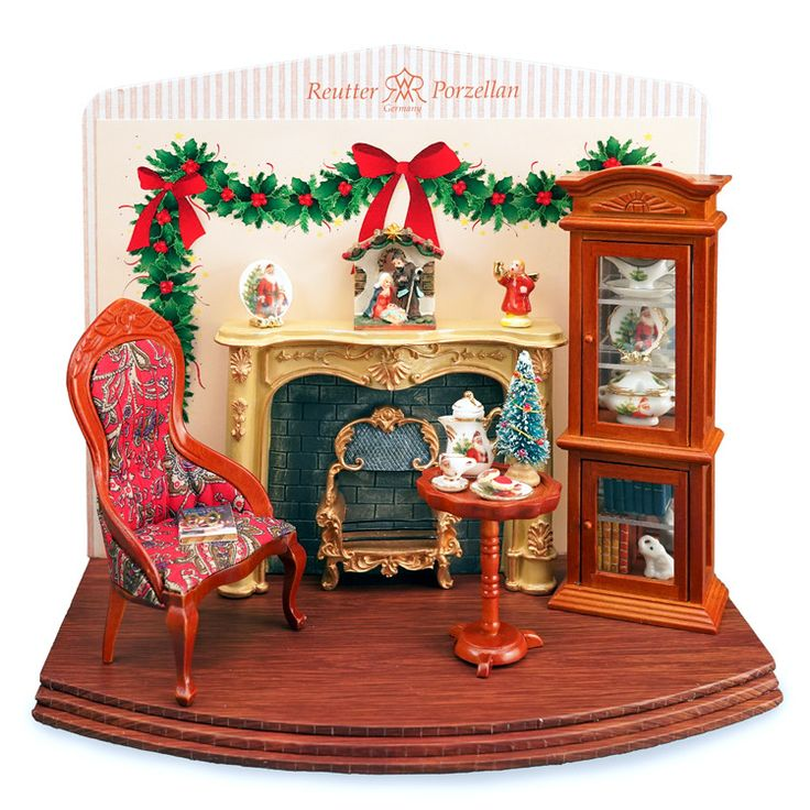 Display comes with everything shown. Quality Reutter Porzellan collectible miniatures are the perfect addition to your dollhouse, miniature scene or classic setting. This product is a scale miniature