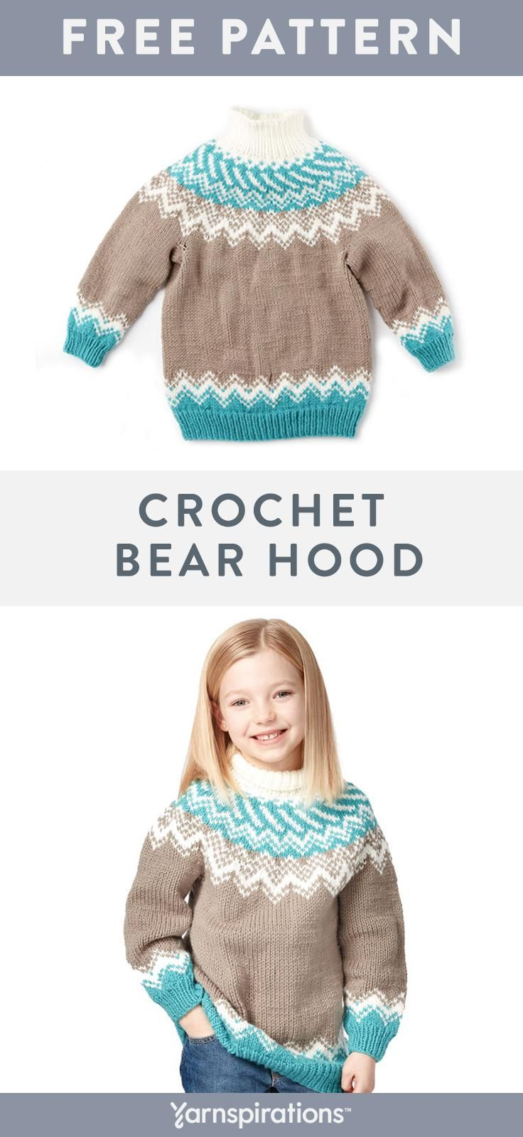 Free Knit Fair Isle Sweater Pattern | This classic fair isle yoke ...