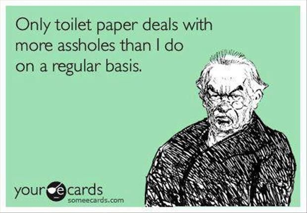 Only toilet paper....