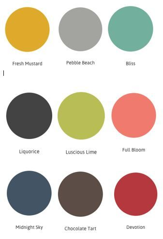 Color Collection Series Mid-Century Modern Color Palette