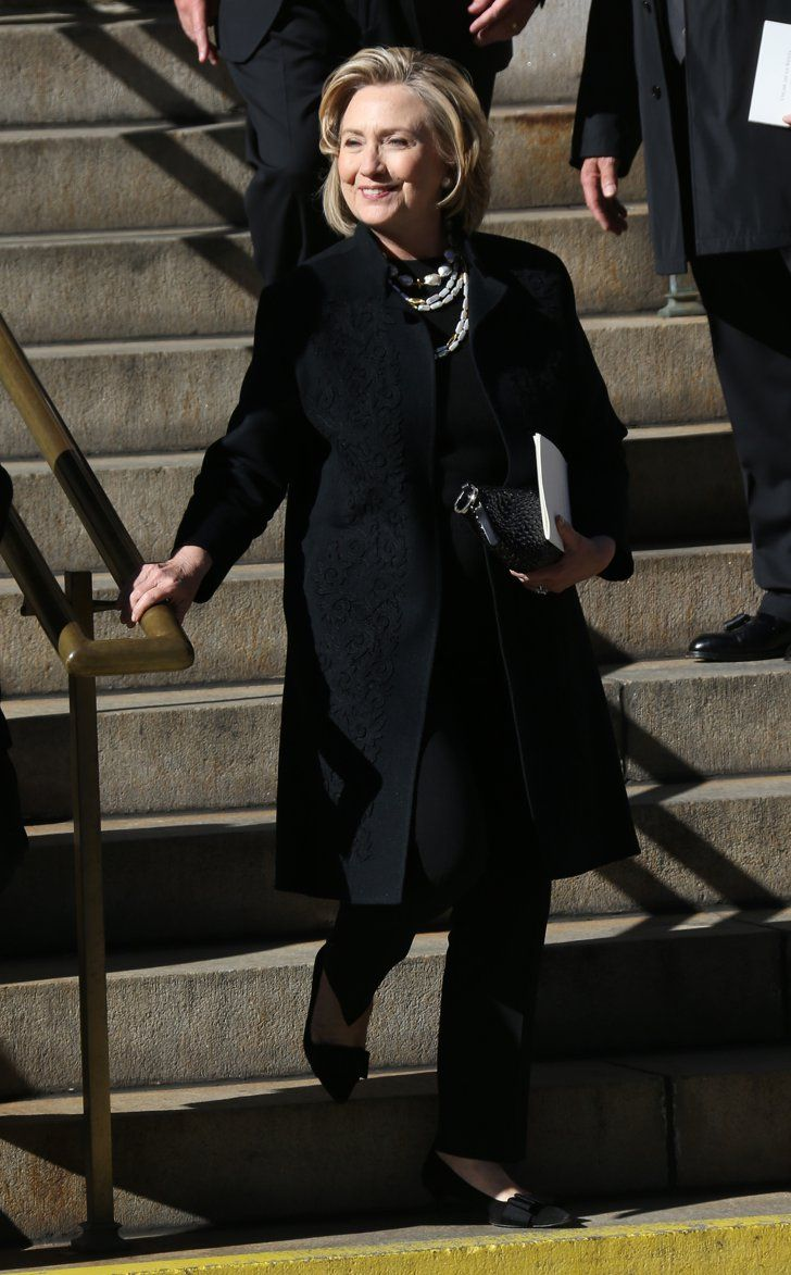 Pin for Later: Fashion Insiders Pay Their Respects at Oscar de la Renta's Funeral Hilary Clinton at Oscar de la Renta's Funeral