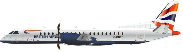 British Airways_Saab 2000_G-CDEB