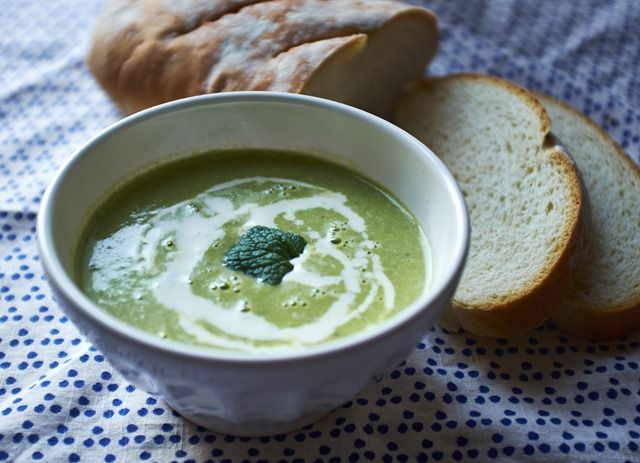 Easy Pea and Mint Soup