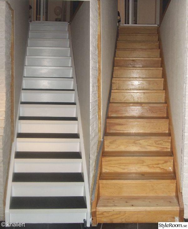 Renovering av den fula trappan. Hittade en riktigt snygg matta från Golvabia som passade bra ihop med klinkergolvet i källaren.