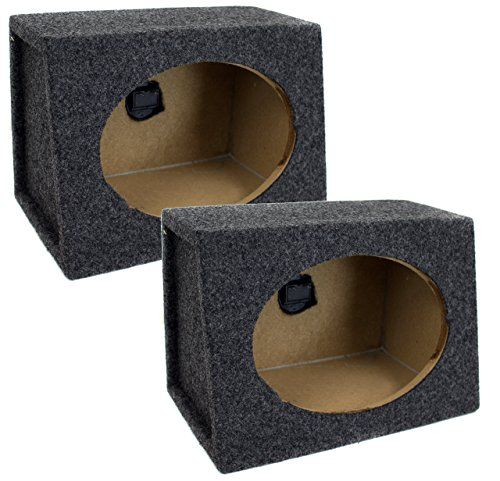 """Q Power Pair 6 x 9 Inches Unloaded Boxes, 1-Pair:   The Q Power qtw6x9 angled style 6""""x9"""" car audio speaker box enclosures feature solid 5/8"""" MDF construction, charcoal carpet covering, and terminal cup connectors. Turn your ride into a sound machine with the help of the q-power qtw6x9 angled style 6""""x9"""" car audio speaker box enclosures these boxes are built so your 6x9 inch speakers will produce the best highs and lows possible. Make sure that your 6x9 inch speakers will fit in these ..."""