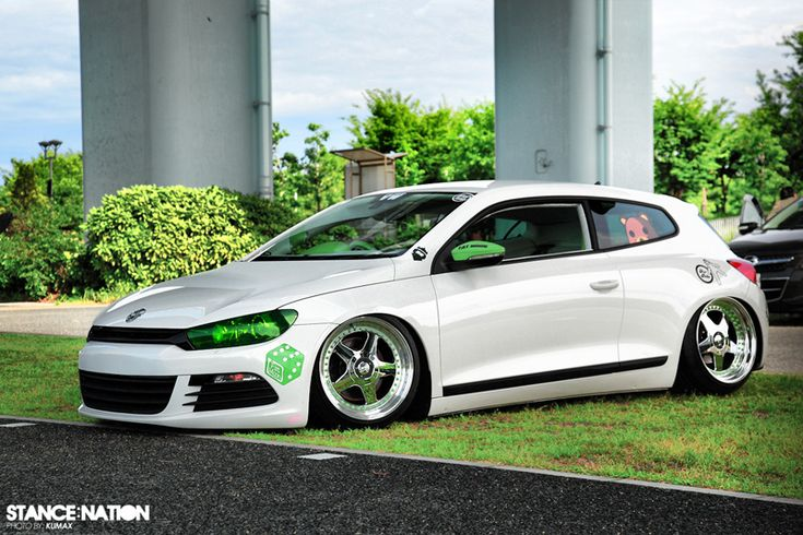 Shame we don't have these in the US. Would totally buy one.     VW Scirocco with O.Z. Racing Futura III wheels