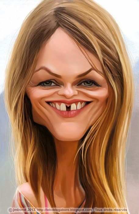 Vanessa Paradis. She looks better as a caricature than in real life.