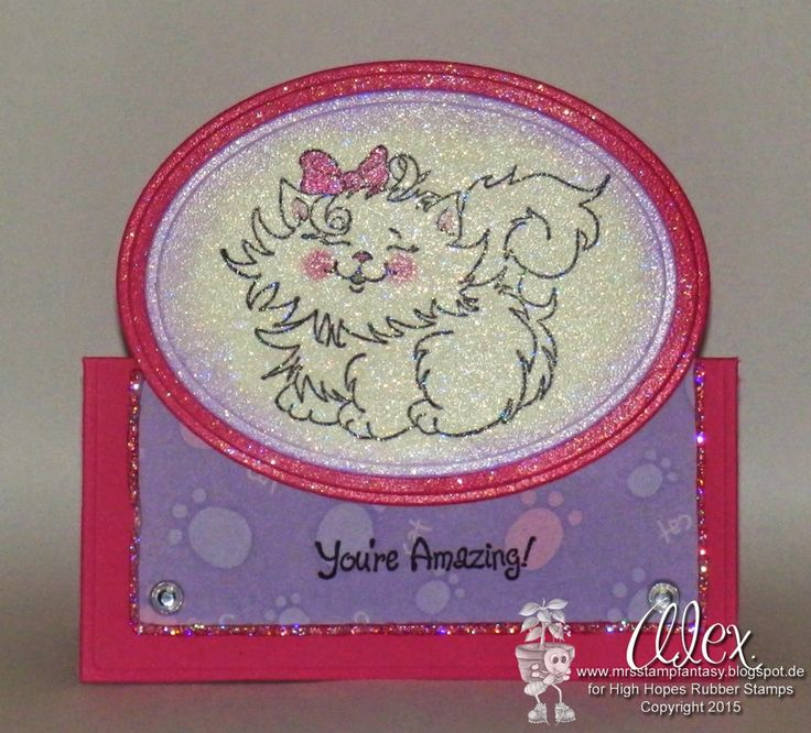 Alex has created this adorable sparkly card using Precious Princess from our collection of new releases.