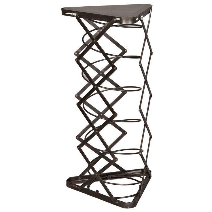 French Metal Industrial Adjustable Height Factory Table