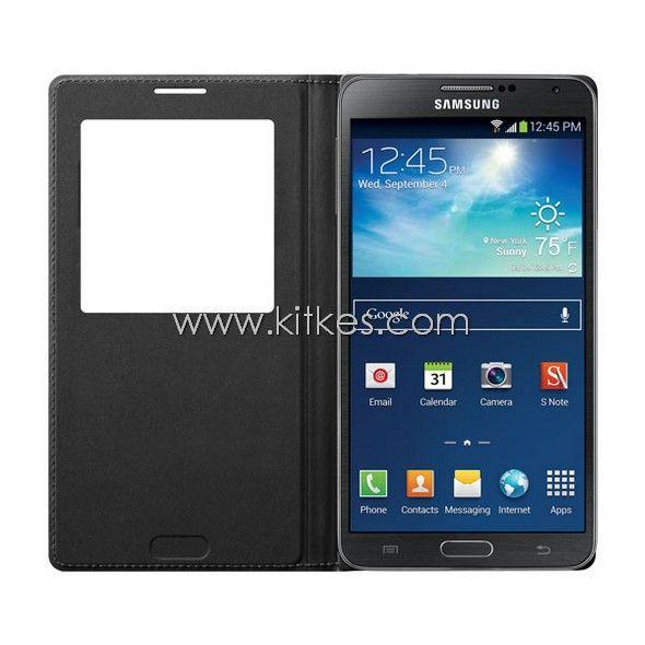 S-View Flip Cover Samsung Galaxy Note 3 (BLACK) - Rp 349.000 - kitkes.com