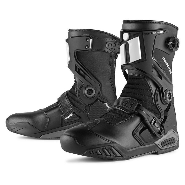 Icon raiden dkr boots Motorcycle riding boots, Mens