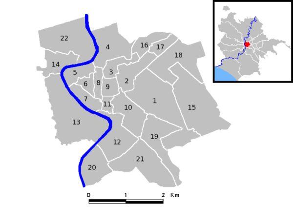 onde ficar em roma: os 22 rioni, ou bairros, de Roma numerados