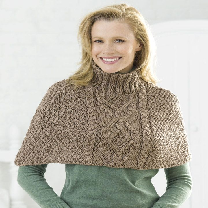 Knitting Patterns Cabled Poncho