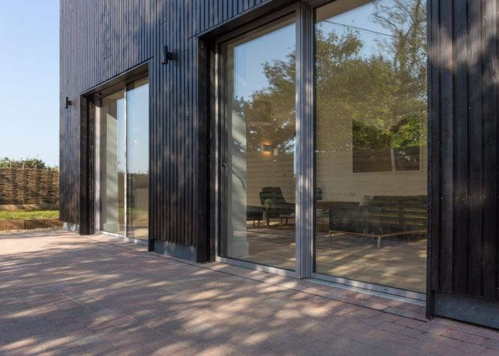 Idealcombi Futura+ low threshold sliding doors in The Old Water Tower Passive House