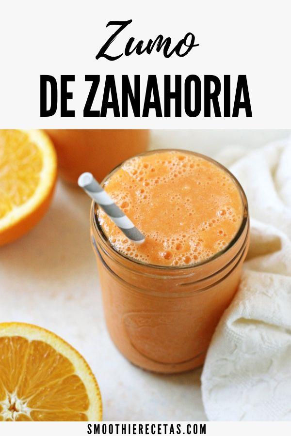 Zumo De Zanahoria Casero Receta Natural Receta Recetas De Zumos Zumos Recetas