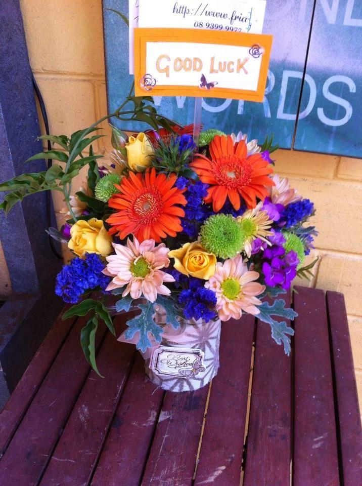 Good Luck Little flowers, Flower arrangements, Flowers