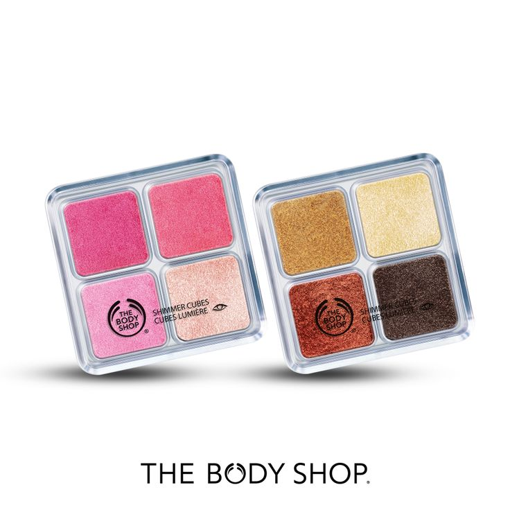 It's Shimmer time! Shimmer Cube Palettes in vibrant shades: Gorgeous Bronze for Brunettes and Poppy Pink for Blondes!