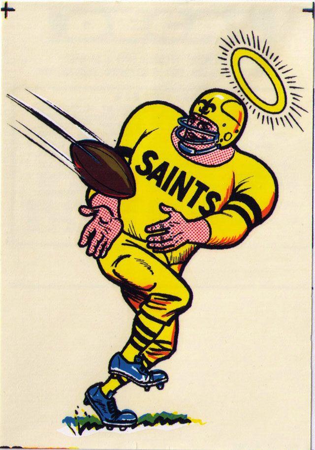 new orleans saints   Vintage 1969 AFL/NFL Team Mascot Decal - New Orleans Saints