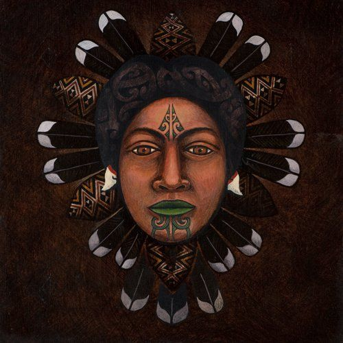 The Face of Matariki by Victor Lee Te Paa, Māori artist