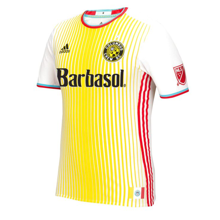 Columbus Crew SC adidas 2016 Authentic For Columbus Jersey - White/Yellow - $99.99