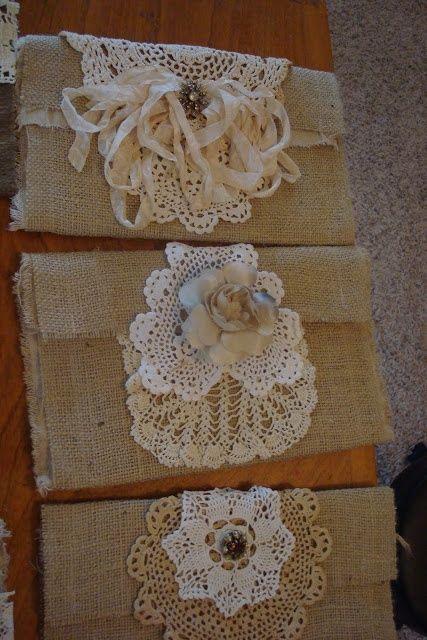 Charming DECORATING WITH BURLAP | DECORATING WITH BURLAP AND LACE | Decorating Burlap  Bags   So Cute