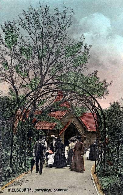 Melbourne Botanical Gardens c 1900