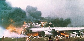 March 27, 1977 - The Tenerife airport disaster, the deadliest accident in aviation history, claiming the lives of 583 and injuring 61 after two Boeing 747s collided on the foggy runway at Los Rodeos Airport after miscommunication with air traffic control. This accident changed the course of ATC procedures and operations around the world.
