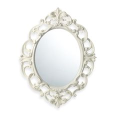 Baroque Mirror in White $17 at Bed Bath & Beyond