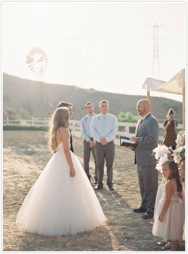 Summer rustic wedding from Snippet and Ink | Camille Styles: Wedding Dressses, Ballerinas Wedding Dresses, Tulle Skirts, The Bride, Cowboys Wedding, Dreams Dresses, The Dresses, Wedding Summer, Rustic Wedding
