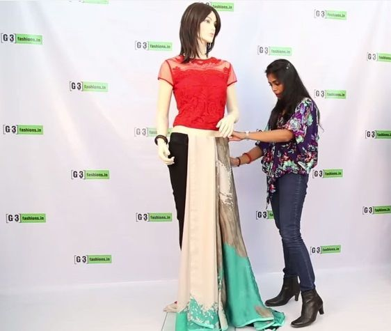 Learn How to Wear Pant Style Saree, A new innovative saree drape with a fusion of western silhouettes and Indian Sarees. Inspired from top Indian deisgners like Nikhil Thami and more. See the tutorial here https://www.youtube.com/watch?v=-8ER4nLIWLA