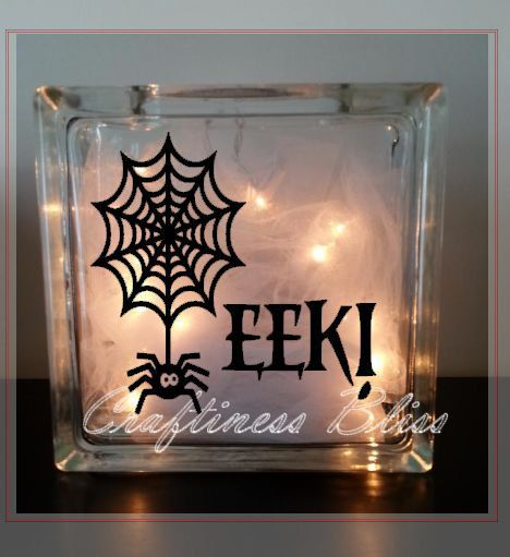 Best Glass Blocks Images On Pinterest Glass Blocks Bulbs - Halloween vinyl decals for glass blocks