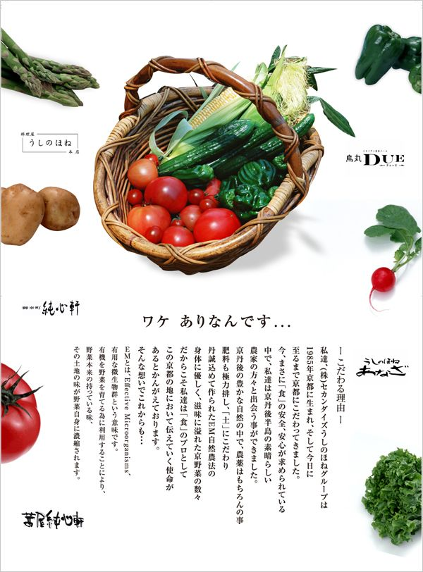 EM野菜 ポスター制作