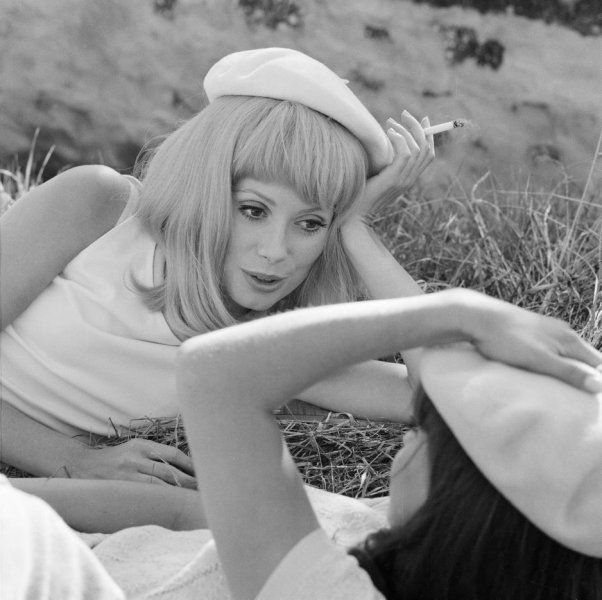 Catherine Deneuve on the set of The Young Girls of Rochefort