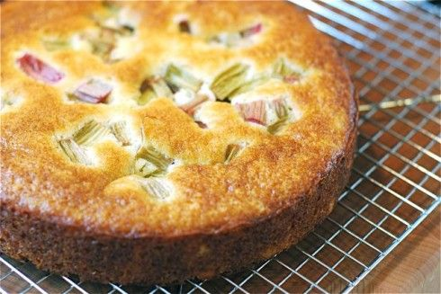 Rhubarb Yogurt Cake inspired by Lunch in Paris by Elizabeth Bard #recipes #cake #rhubarb #paris #books: Fun Recipes, Rhubarb Recipes, Yogurt Cakes, Sweet Treats, Cakes Recipes, Rhubarb Yogurt, Eating Cakes, Favorite Recipes, Rhubarb Cakes