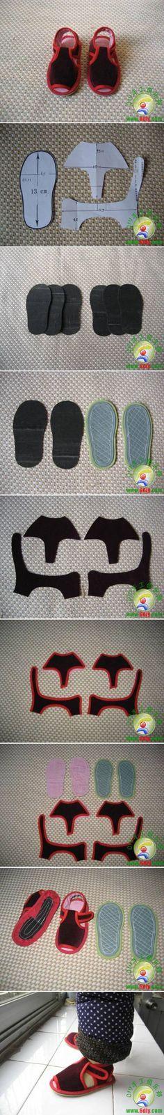 DIY Sew Baby Sandal