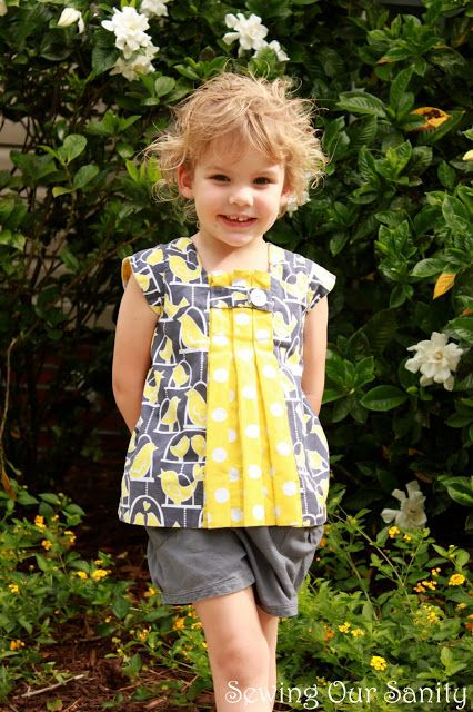 Sewing our Sanity: tutorial for altering O+S birthday party to a tunic with sleeves.