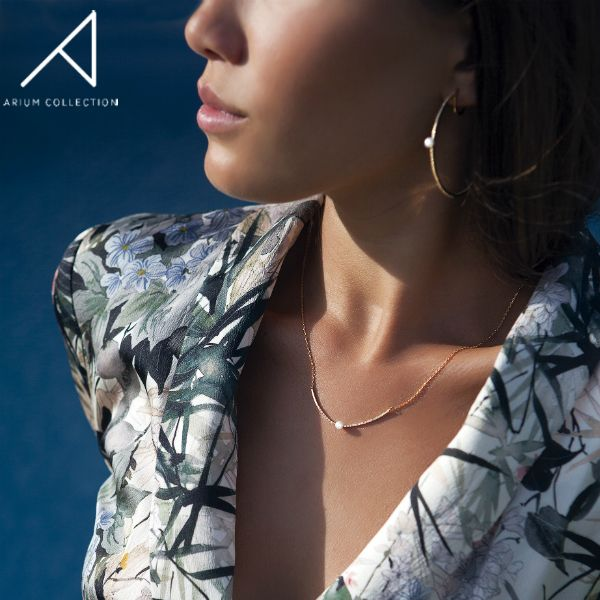 We believe that beauty is found in simplicity and embrace this principle through our Petite Collection. Delicate and subtle, these pieces are great for everyday wear.  // Materials: pave setting, cubic zirconia, petite freshwater pearls.  #ariumcollection #highendcostumejewelry #goldplatedjewelry