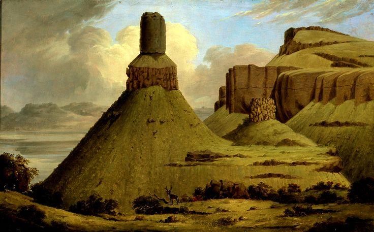 Chimney Rock. Spettacolari formazioni rocciose allo sbocco del Wallawalla River, chiaamate Le Rocce delle Ragazze Cayuse dai Nativi.
