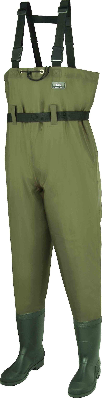 DAM Hydroforce Nylon Taslan Waders, vert, étanchéité 100% sûre, Taille 38