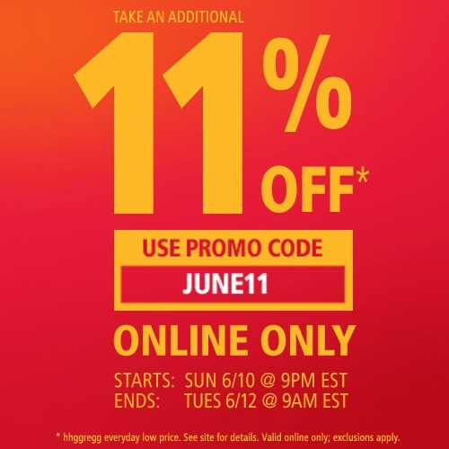 TODAY ONLY -- Save 11% online with this exclusive promo code!
