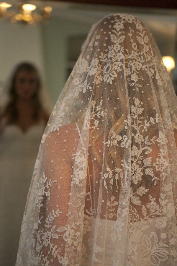 Voile de mariée en dentelle