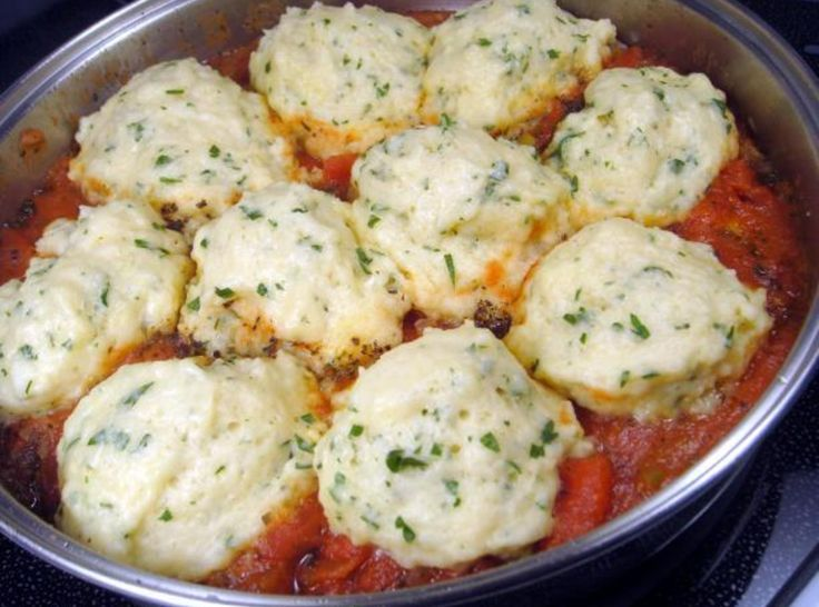 Lisa's Tomato Dumplings   this will be perfect in the west bend slow cooker, must make while we have some fresh tomatoes.
