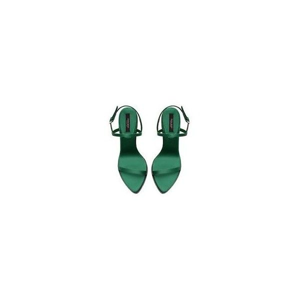 Zara Green ❤ liked on Polyvore featuring shoes, sandals, heels, strap sandals, strap heels shoes, heeled sandals, strappy heel shoes and strappy sandals