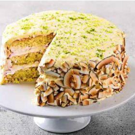 Coconut and lime layer cake