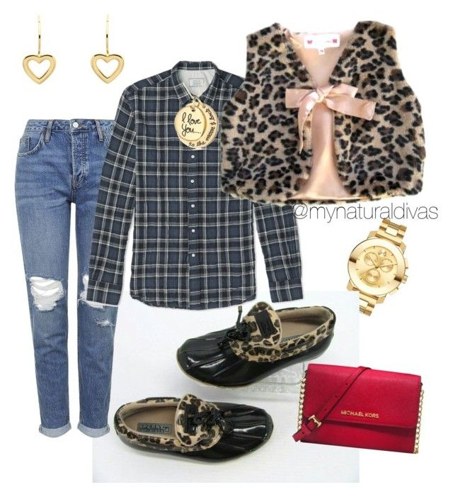 """Casual look #mixedprints #plaid #leopard #sperry #michaelkors"" by chanel-dclb on Polyvore featuring Movado, Topshop, Officine Generale, Michael Kors and Melissa Odabash"