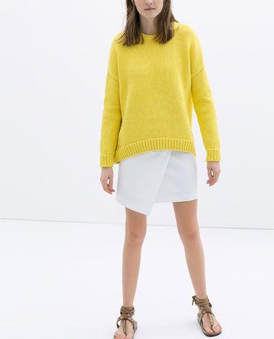 Image 1 of WRAP AROUND MINI SKIRT from Zara