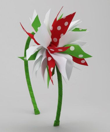 Take a look at this Red & Green Surprise Bow Headband by Picture Perfect Hair Bows on #zulily today!